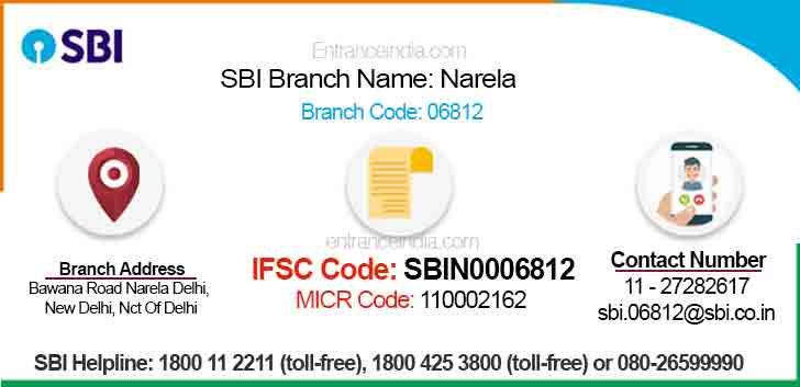 IFSC Code for SBI Narela Branch