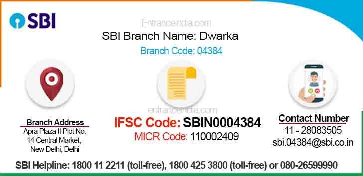 IFSC Code for SBI Dwarka Branch