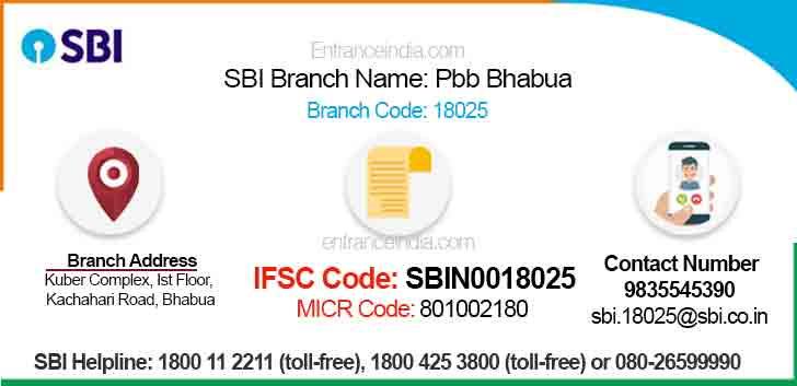 IFSC Code for SBI Pbb Bhabua Branch