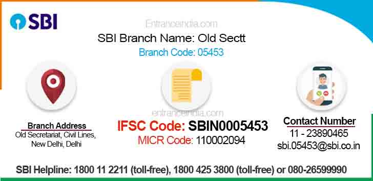 IFSC Code for SBI Old Sectt Branch
