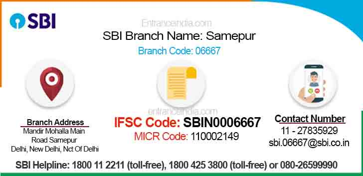 IFSC Code for SBI Samepur Branch