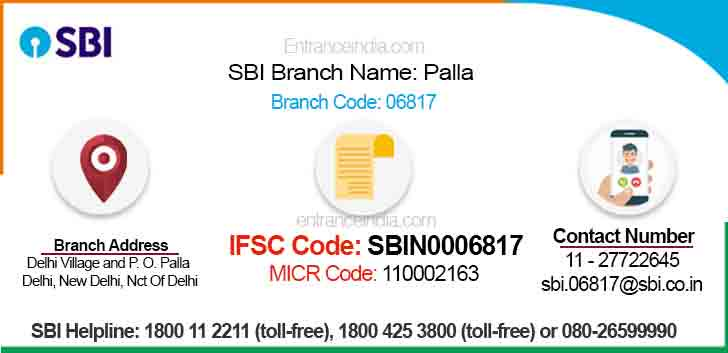 IFSC Code for SBI Palla Branch