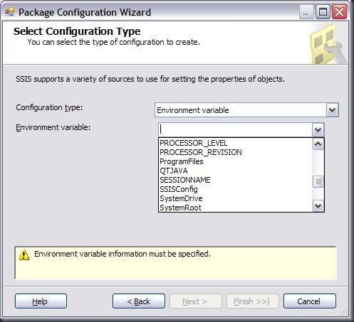 PackageConfigurationsWizard-ENV