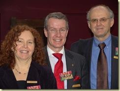 SIRC members Barbara Eveus, Gustaf Hellsten and Nick Thompson