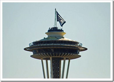 Space Needle flags Sub Pop