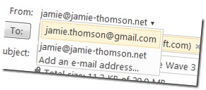 multiple from addresses in hotmail